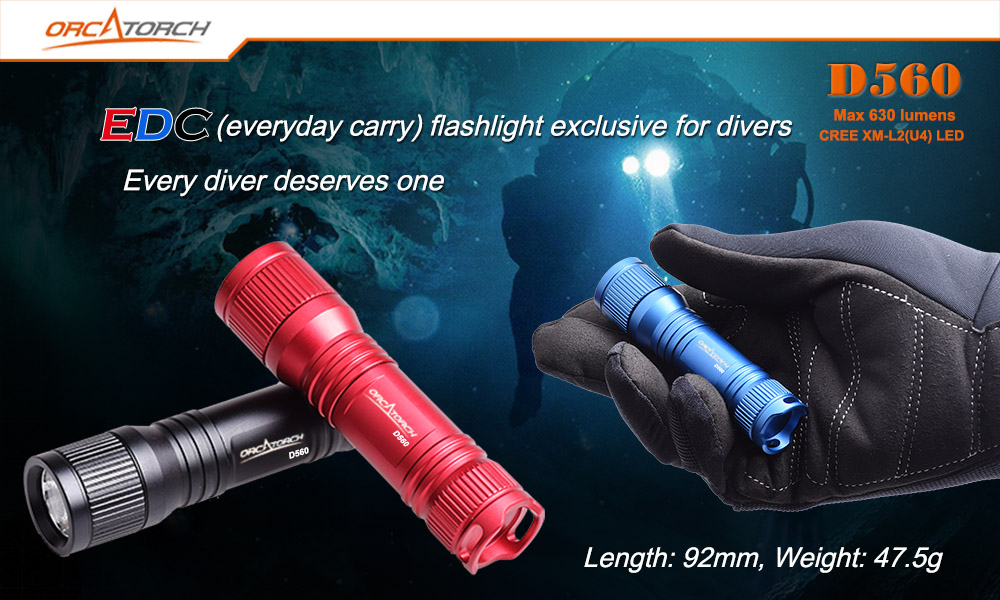 OrcaTorch D560 Dive Torch
