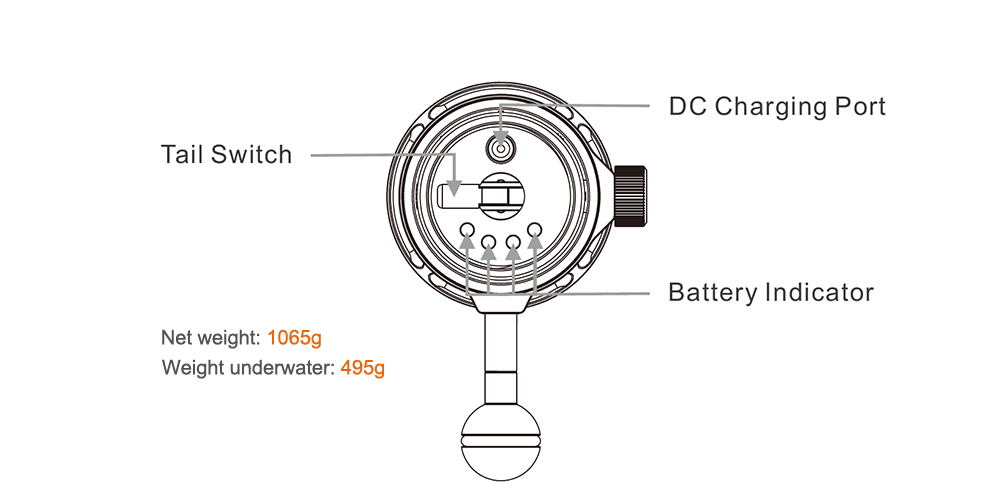 OrcaTorch D950V Dive Light 8