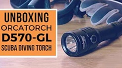 The Torch for Scuba Dive Instructors | OrcaTorch D570-GL | Unboxing
