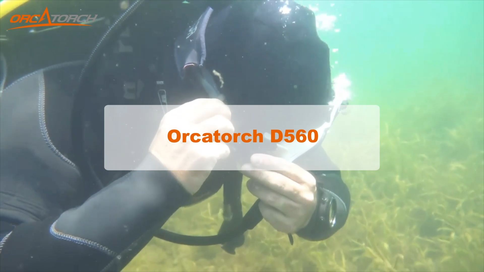 OrcaTorch D560 Affordable Dive Light Small and Light Weight