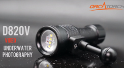 OrcaTorch D820V Video Light for Underwater Photography