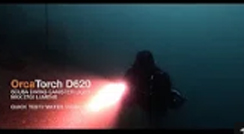 OrcaTorch D620 Scuba Diving Canister Light Test