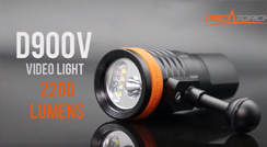 OrcaTorch D900V Video Light Specially Designed for Underwater Photographer