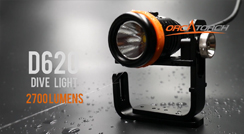 OrcaTorch D620 Scuba Diving Canister Light 2700 Lumens