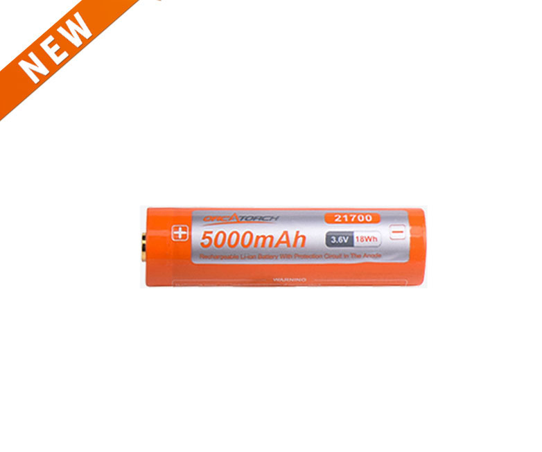 OrcaTorch 21700 USB Battery 5000mAh