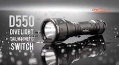 OrcaTorch D550 Portable Magnetic Controlled Dive Light