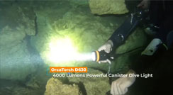 Cave Diving Using OrcaTorch D630 Canister Dive Torch