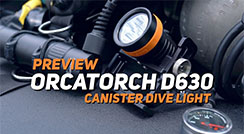 OrcaTorch D630 Canister Light / Technical Diving / Scuba diving