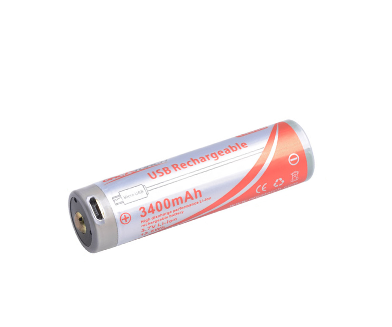 18650 USB Battery 3400mAh